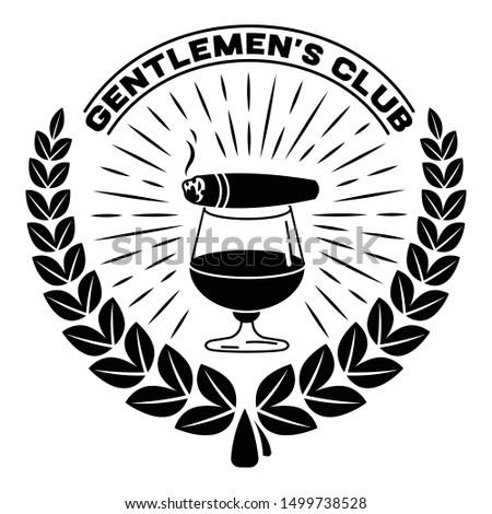 Retro gentleman club logo. Simple illustration of retro gentleman club vector logo for web design isolated on white background