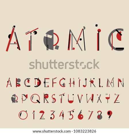 Retro geometric font. Vector illustration