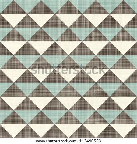 retro geometric triangles seamless pattern