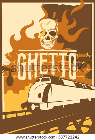 retro ghetto poster vector