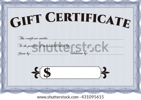 Retro Gift Certificate. Customizable, Easy to edit and change colors. With background. Good design.