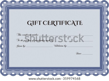Retro Gift Certificate template. With quality background. Superior design. Customizable, Easy to edit and change colors.
