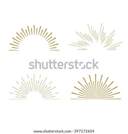 retro gold sun burst shapes....