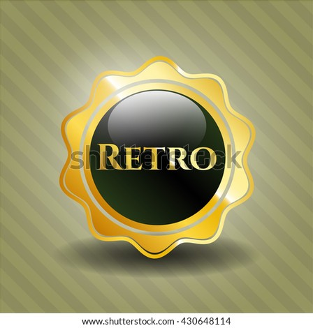 Retro golden emblem