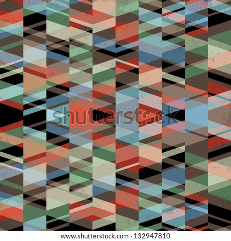 Retro grunge geometric background.Vector EPS10
