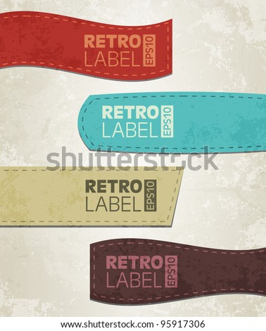 retro grunge labels