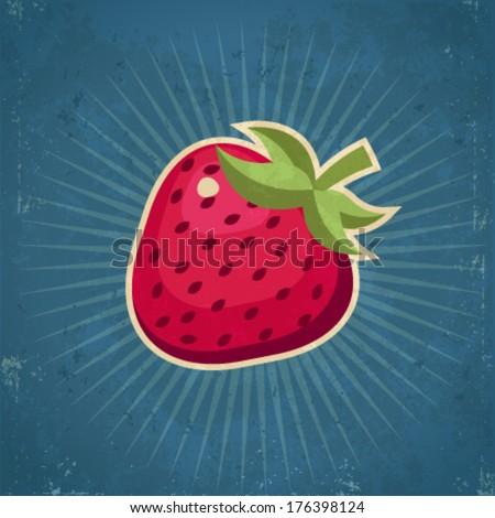 retro grunge strawberry