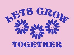 Retro Happy Flower Vector Art Illustration. Smiling Flower Icon Fashion Illustration. Vintage Slogan T shirt Print Design.