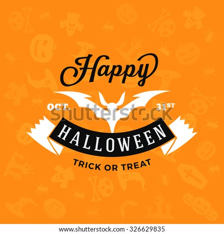 retro happy halloween badge
