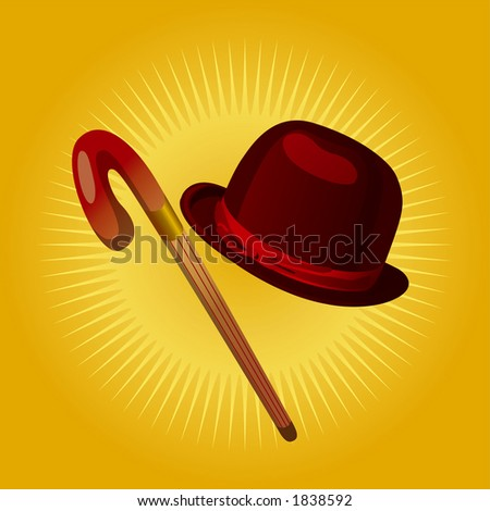 retro hat   cane   fully