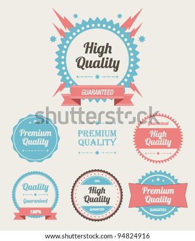 Retro High Quality Labels Set