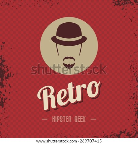 retro hipster male art