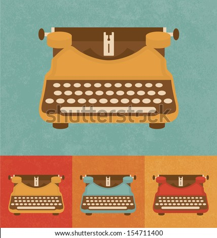 Retro Icons - Vintage Typewriter