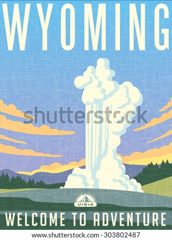 retro illustrated travel poster