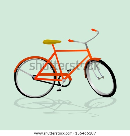 Retro Illustration Bicycle. Illustration of bicycle.