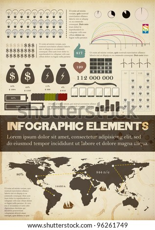 retro infographics collection
