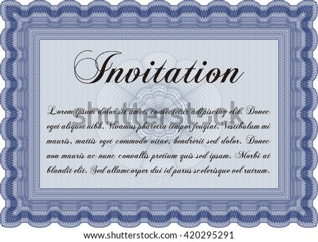 Retro invitation. Border, frame. With quality background. Superior design.