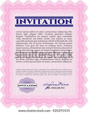 Retro invitation. Border, frame. With quality background. Superior design.