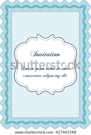 Retro invitation. Complex background. Lovely design. Border, frame.