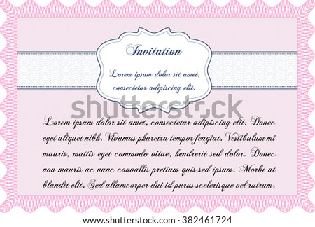 Retro invitation. Superior design. Border, frame. With quality background.