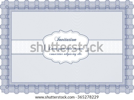 Retro invitation template. Cordial design. With quality background. Detailed.