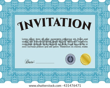 Retro invitation. With quality background. Border, frame. Lovely design.
