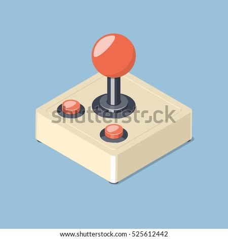 retro joystick gamepad icon....