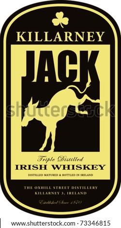 retro killarney irish whiskey