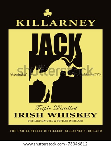 retro killarney irish whiskey