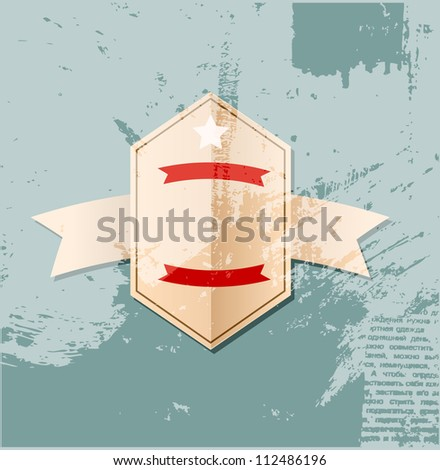 Retro label background - stock vector