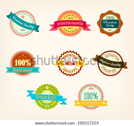 Retro Labels - stock vector