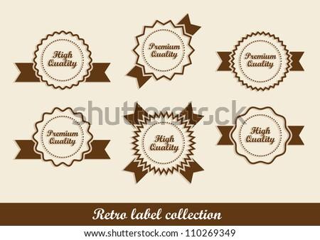 Retro labels in vector format - stock vector