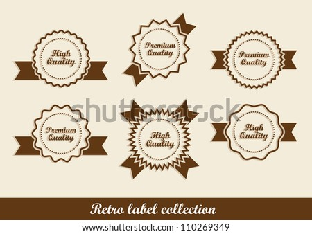 Retro labels in vector format