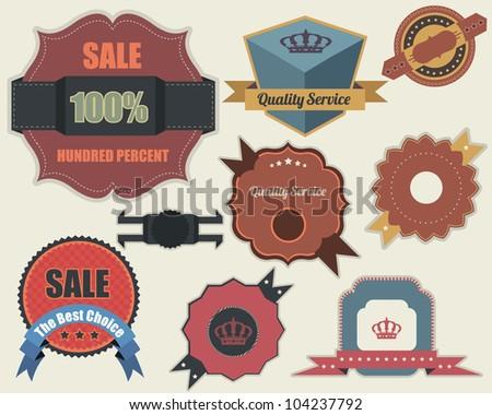 Retro Labels Vector Design Vintage