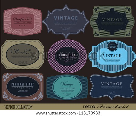 retro Labels with retro vintage styled design - stock vector