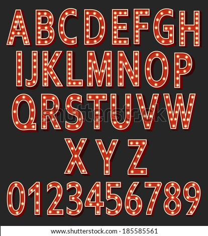 retro letters show lamps