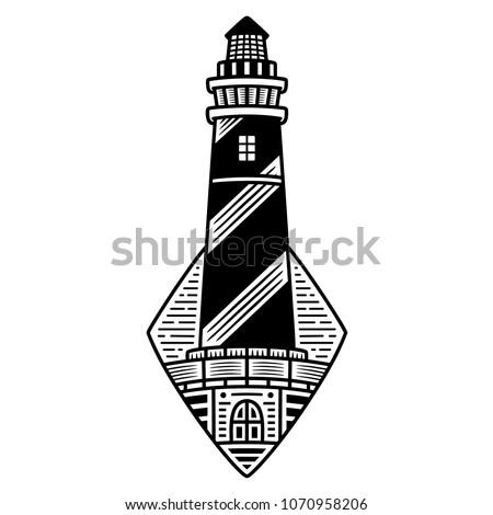 retro lighthouse. vintage...