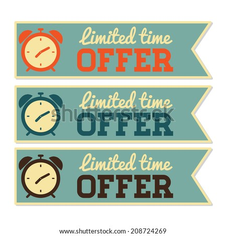 Retro Limited Time Offer Banner Set