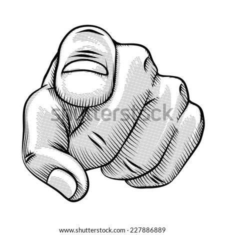 Pointing Finger Drawing of a Pointing Finger And