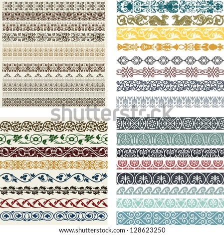 stock-vector-retro-lines-set