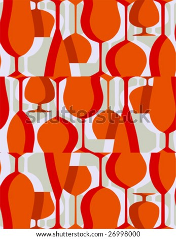 Retro lunch - seamless vector pattern - stock vector