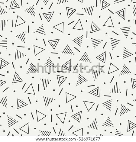 retro memphis geometric line
