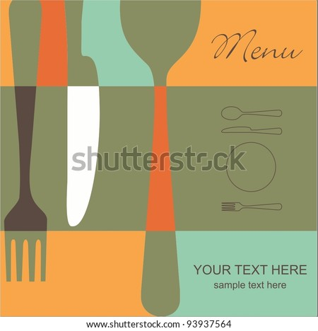 Retro menu - stock vector