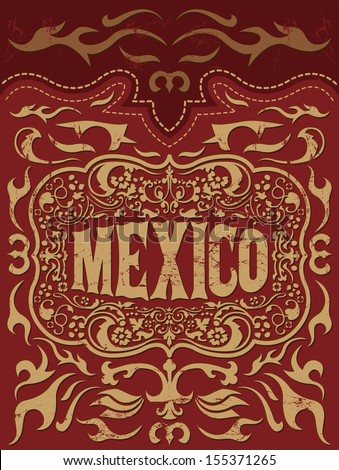 retro mexican holiday vector...