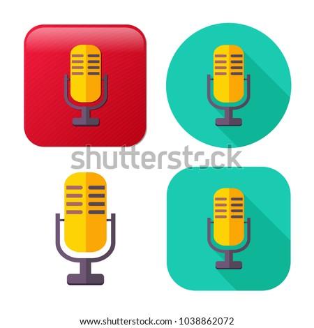 retro microphone icon   sound...