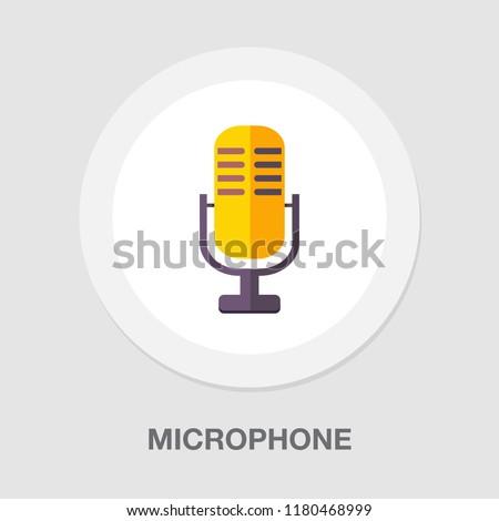 retro microphone icon - sound music illustration - voice record symbol