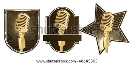 retro microphone signs