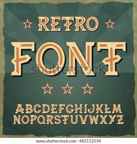 retro military font 1945