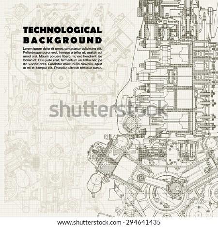 retro monochrome technical