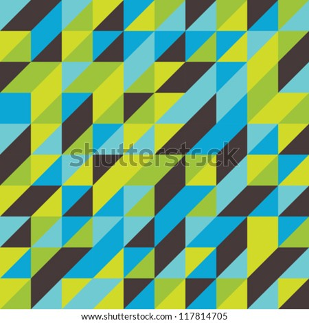 Retro mosaic abstract tiled pattern background